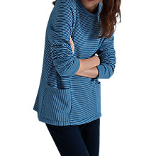Buy Seasalt Pinpoint Sweatshirt, West Town Ecru Sapphire Online at johnlewis.com