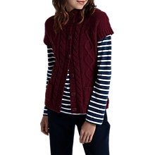 Buy Seasalt Highmore Cable Knit Cardigan, Rosewood Online at johnlewis.com