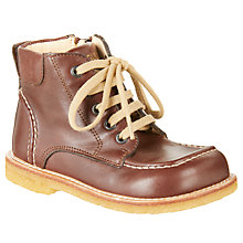 Buy ANGULUS Children's Lace Style Boots, Tan Online at johnlewis.com