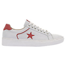 Buy Mint Velvet Dulcie Embellished Star Trainers, White Online at johnlewis.com