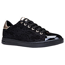 Buy Geox Jaysen Breathable Lace Up Trainers, Black Online at johnlewis.com
