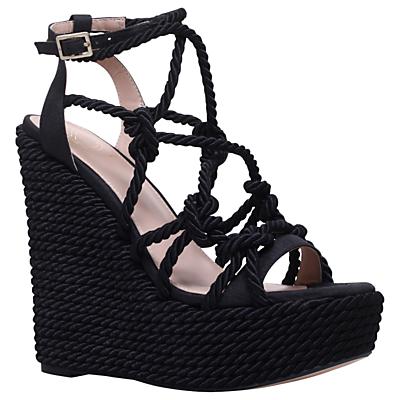 KG by Kurt Geiger Notty Strap Wedge Sandals, Black