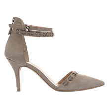 Buy Mint Velvet Lacey Double Strap Court Shoes, Stone Online at johnlewis.com