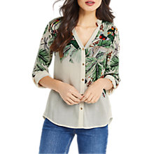Buy Oasis ZSL Placement Shirt, Multi/Natural Online at johnlewis.com