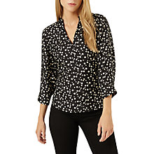 Buy Damsel in a dress Hexa Print Blouse, Black/Beige Online at johnlewis.com