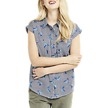 Buy Oasis Ticking Stripe Bird Shirt, Multi Online at johnlewis.com