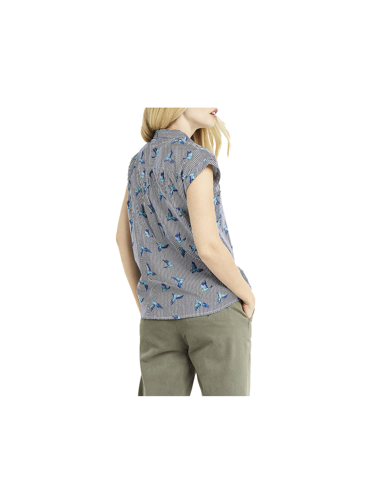 BuyOasis Ticking Stripe Bird Shirt, Multi, 6 Online at johnlewis.com