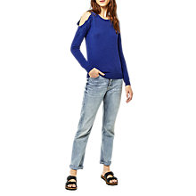Buy Warehouse Embroidered Cut Out Jumper Online at johnlewis.com