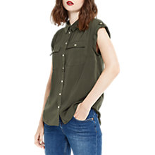 Buy Oasis Soft Safari Shirt, Deep Green Online at johnlewis.com