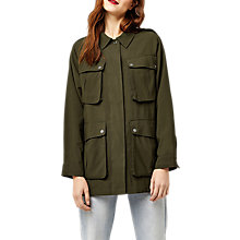 Buy Warehouse Four Pocket Military Jacket, Khaki Online at johnlewis.com