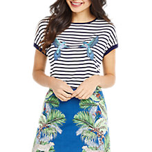 Buy Oasis Parakeet Stripe Top, Multi Online at johnlewis.com