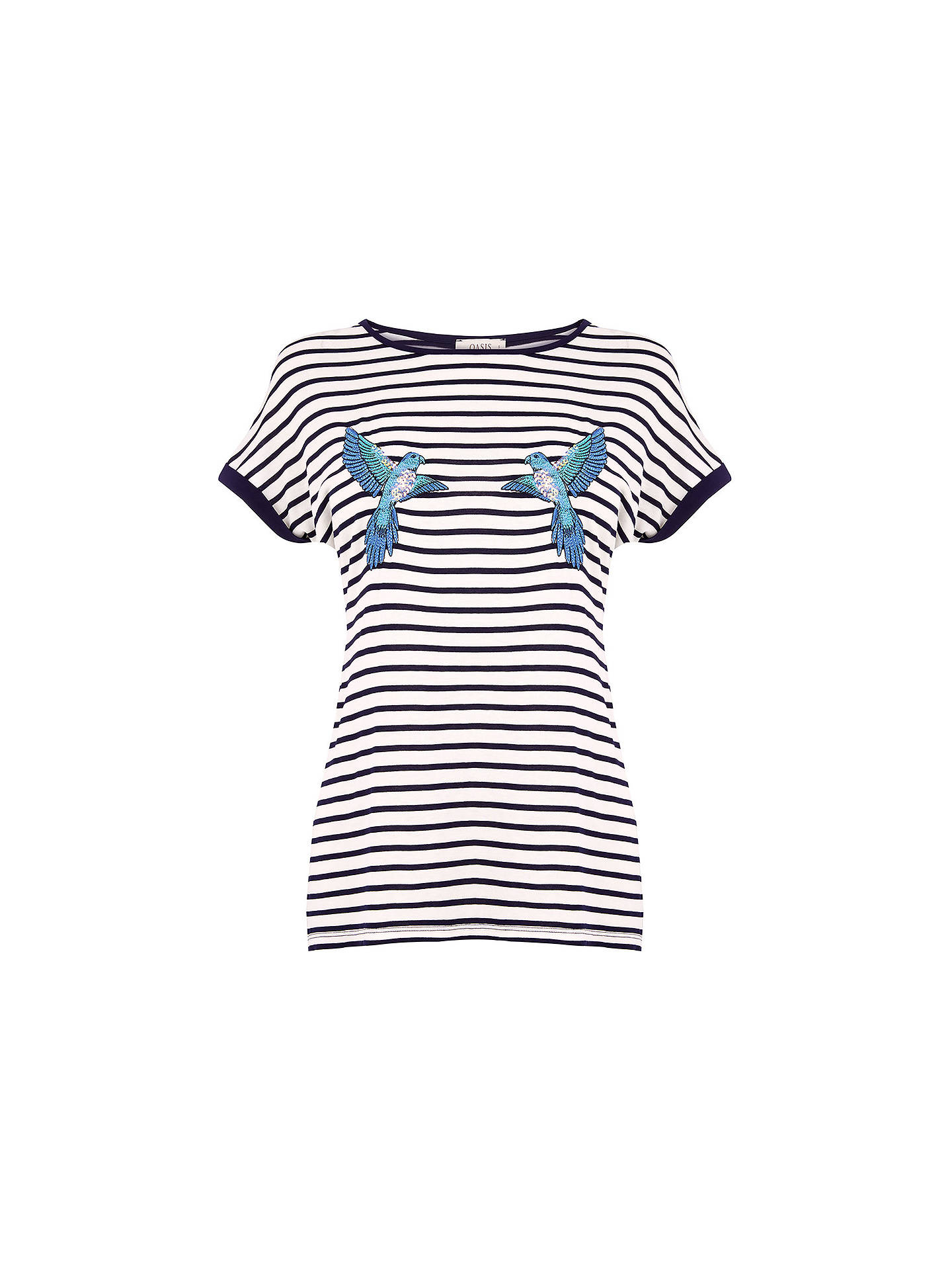 BuyOasis Parakeet Stripe Top, Multi, XS Online at johnlewis.com