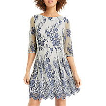 Buy Oasis Lace Skater Dress, Blue Online at johnlewis.com