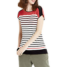 Buy Oasis Bubble Striped T-Shirt, Multi Online at johnlewis.com