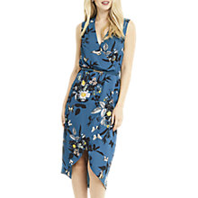 Buy Oasis Shipwrecked Wrap Front Midi Dress, Multi Online at johnlewis.com