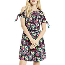 Buy Oasis Ditsy Tie Sleeve Dress, Multi Online at johnlewis.com