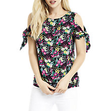 Buy Whistles Ditsy Cold Shoulder Top, Multi Online at johnlewis.com