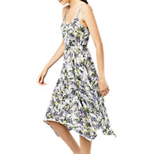 Buy Warehouse Cloud Burst Hanky Hem Dress, Purple/Multi Online at johnlewis.com