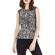 Buy Oasis Peplum Top, Multi Online at johnlewis.com