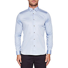 Buy Ted Baker Marsay Sateen Stretch Slim Fit Shirt, Light Blue Online at johnlewis.com