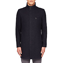 Buy Ted Baker Long Marvin Coat, Dark Blue Online at johnlewis.com