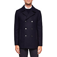 Buy Ted Baker Zachary Pea Coat, Navy Online at johnlewis.com