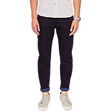 Buy Ted Baker Sirrius Tapered Jeans, Dark Blue Online at johnlewis.com