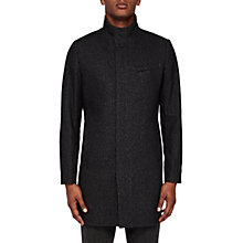 Buy Ted Baker Long Marvin Coat, Charcoal Online at johnlewis.com