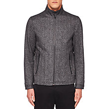Buy Ted Baker Soho Herringbone Jacket, Charcoal Online at johnlewis.com