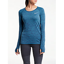 Buy Nike Dri-FIT Knit Long Sleeve Running Top Online at johnlewis.com