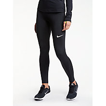 Buy Nike Pro Training Tights, Black/White Online at johnlewis.com