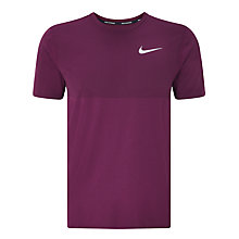 Buy Nike Zonal Cooling Relay Short Sleeve Running Top, Bordeaux Online at johnlewis.com