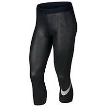 Buy Nike Pro Capri Training Tights, Black/Metallic Online at johnlewis.com