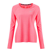 Buy Nike Dry Miler Long Sleeve Running Top Online at johnlewis.com