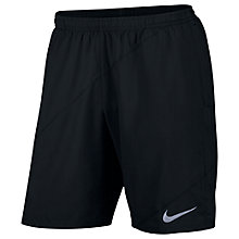 "Buy Nike Flex 9"" Running Shorts, Black Online at johnlewis.com"