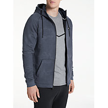 Buy Nike Sportswear Modern Textured Hoodie, Obsidian/Thunder Blue Online at johnlewis.com