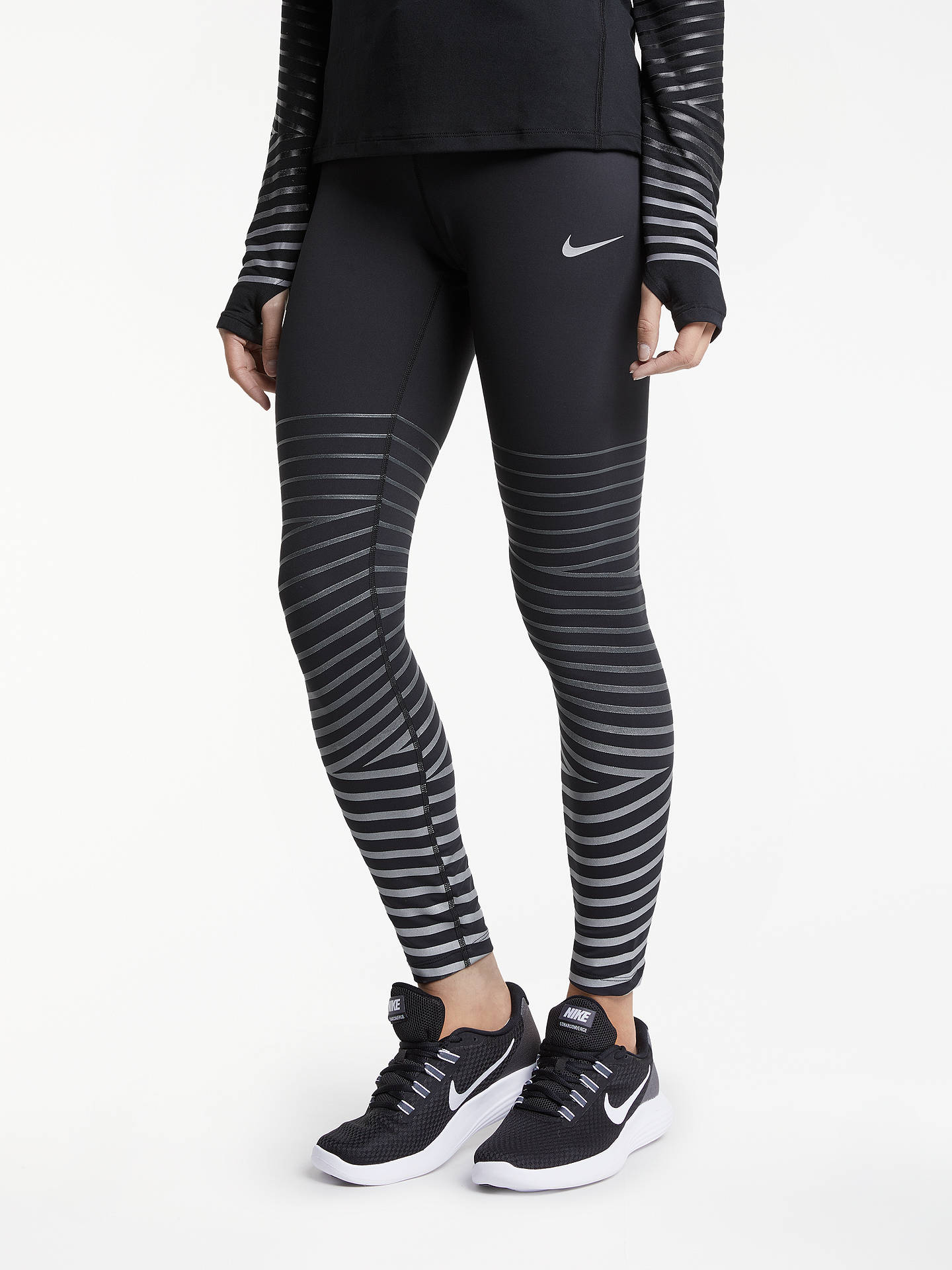 445be50ff4 Buy Nike Power Epic Lux Flash Running Tights, Black/Anthracite, XS Online  at ...