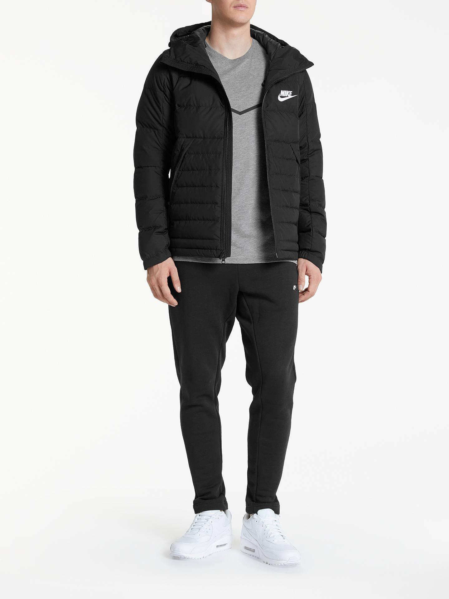 espiral Prestado abrigo  Nike Sportswear Down Insulated Jacket, Black at John Lewis & Partners