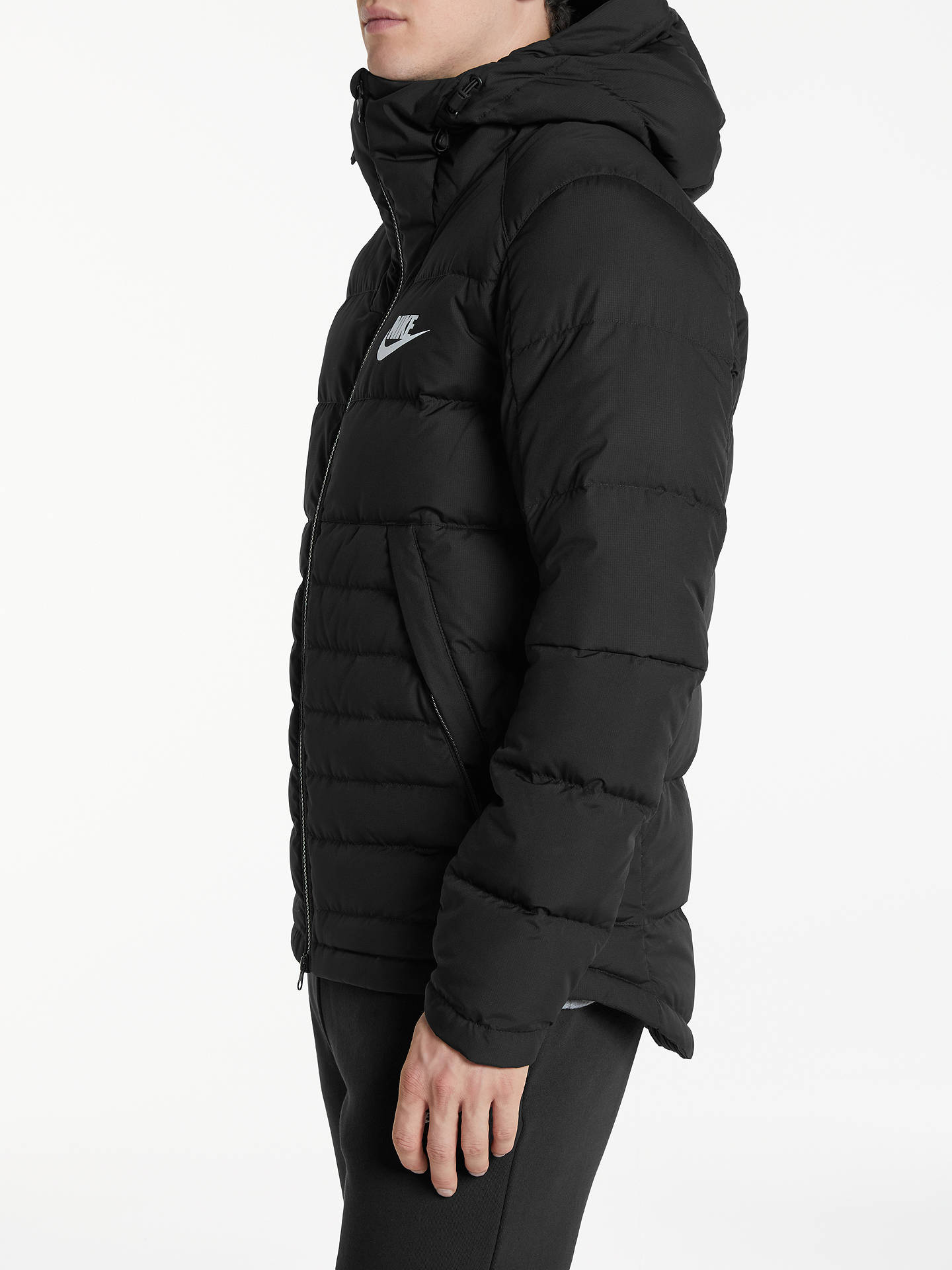 Agacharse Íntimo orden  Nike Sportswear Down Insulated Jacket, Black at John Lewis & Partners