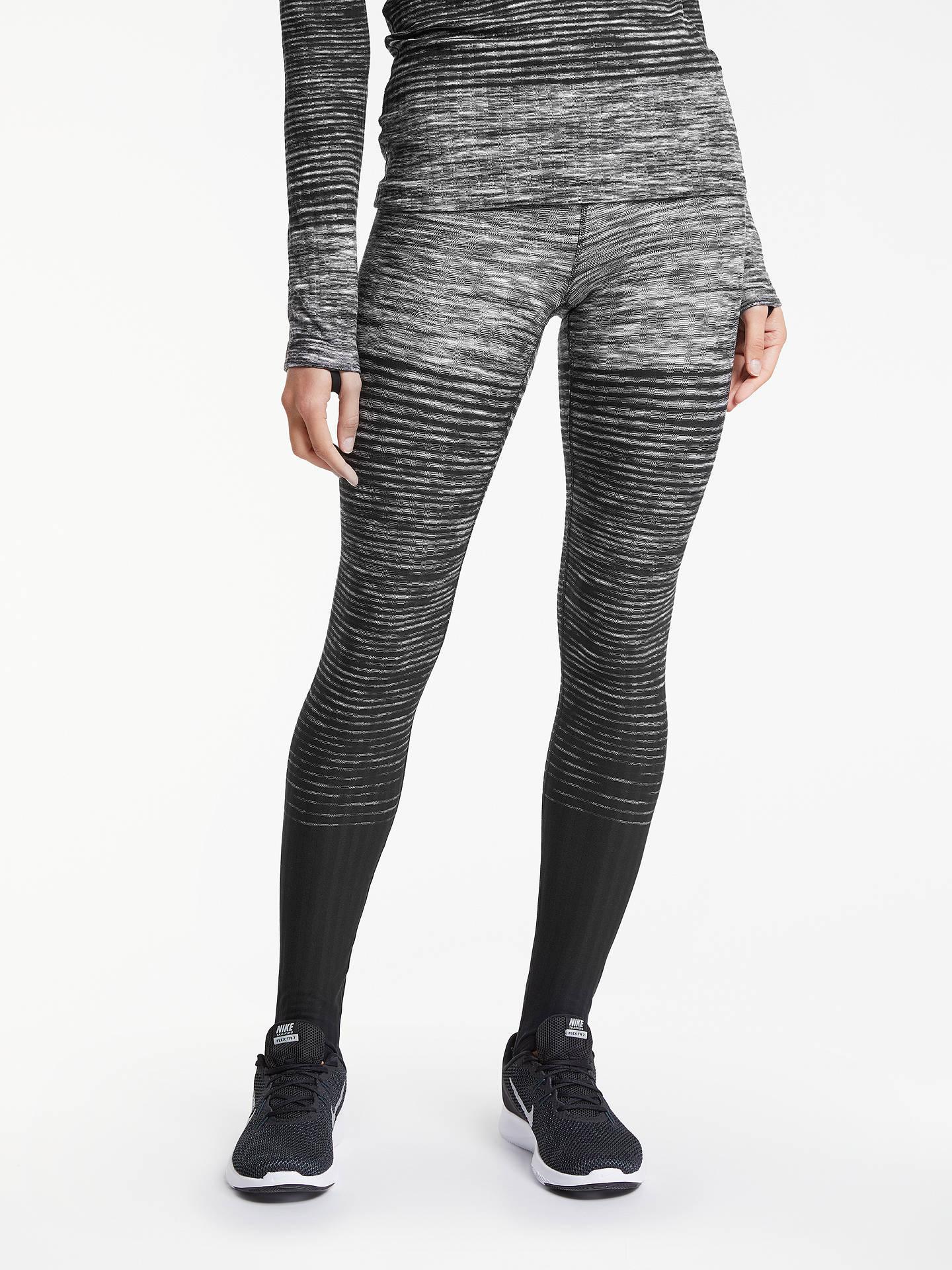 623dbbdf9a Buy Nike Pro Hyperwarm Training Tights, Dark Grey/White, XS Online at  johnlewis ...