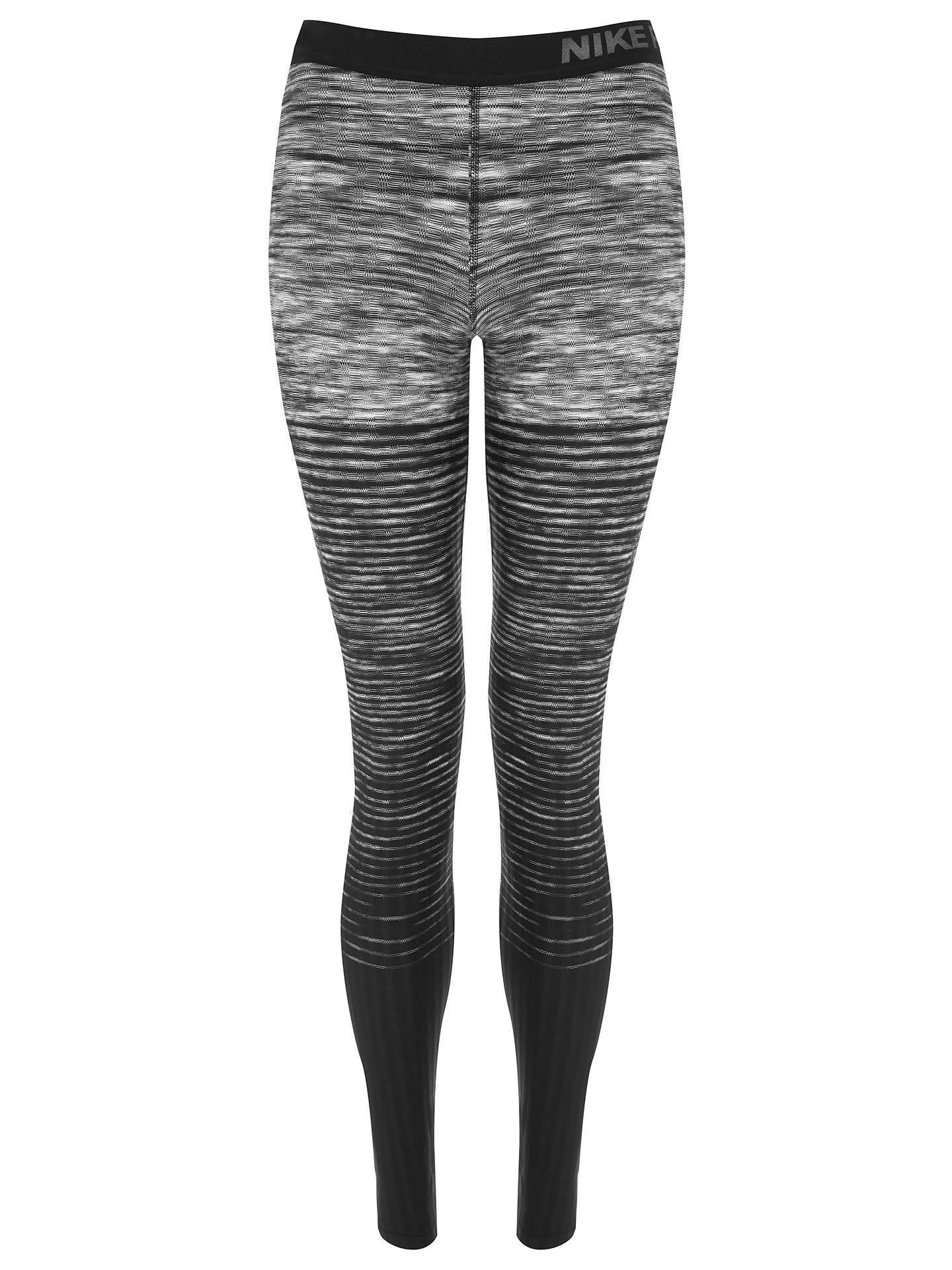 643b5b24e9444 ... Buy Nike Pro Hyperwarm Training Tights, Dark Grey/White, XS Online at  johnlewis ...