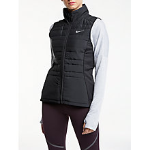 Buy Nike Essential Running Zip Vest, Black/Metallic Online at johnlewis.com
