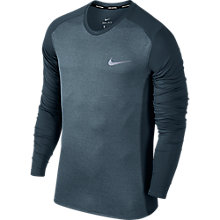 Buy Nike Dry Miler Running Long Sleeve Top, Armoury Blue Online at johnlewis.com
