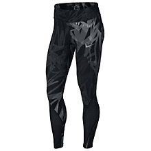 Buy Nike Power Epic Lux Print Running Tights, Black Online at johnlewis.com