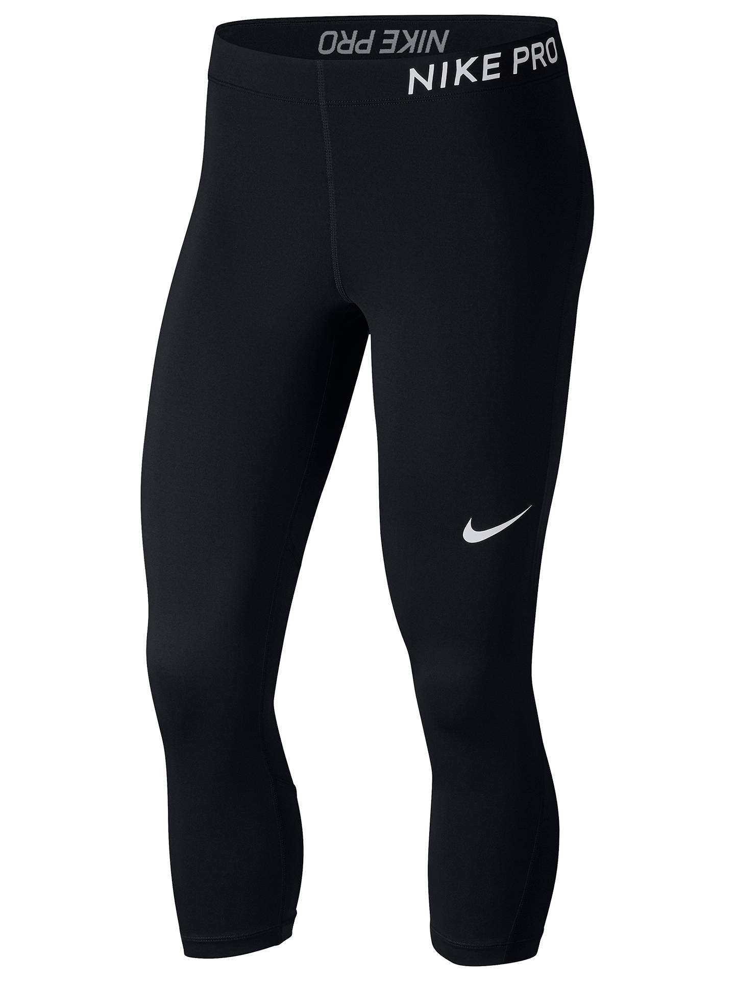 release date: be006 0af21 Buy Nike Pro Capri Training Tights, Black White, XS Online at johnlewis.