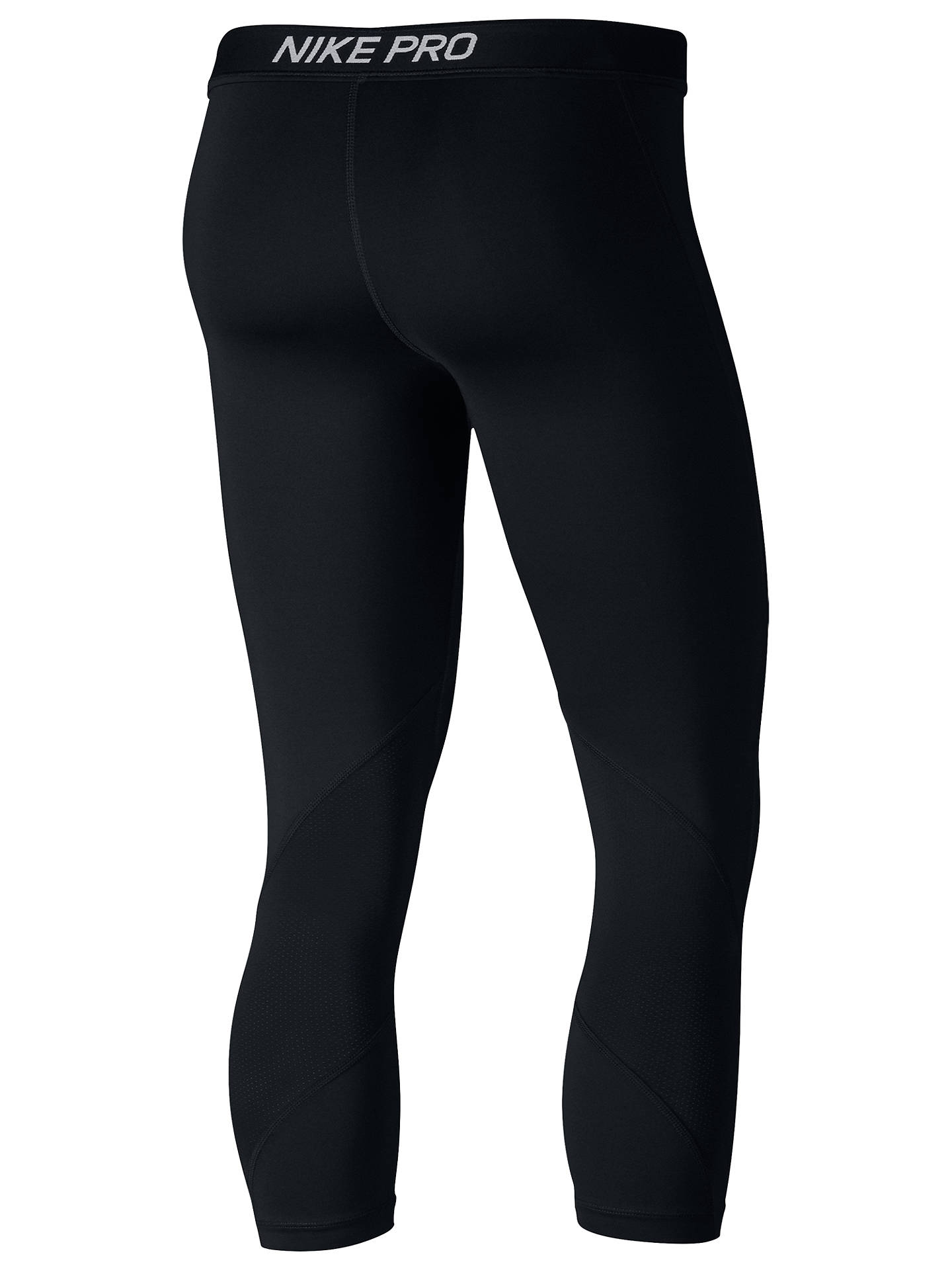 BuyNike Pro Capri Training Tights, Black/White, XS Online at johnlewis.com