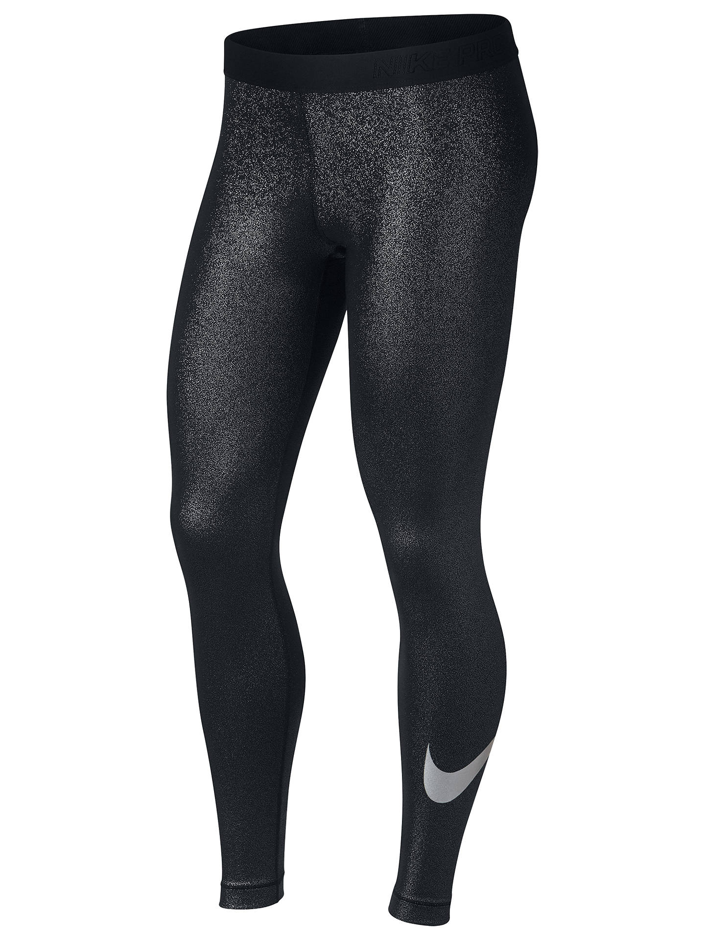 e05a49a5fee46 Buy Nike Pro Training Tights, Black/Metallic, XS Online at johnlewis.com ...