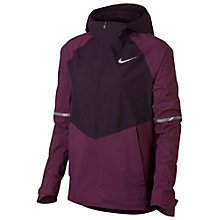 Buy Nike Zonal AeroShield Hooded Running Jacket, Bordeaux/Port Wine/Metallic Silver Online at johnlewis.com