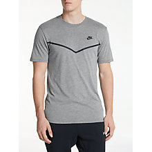 Buy Nike Sportswear Chevron T-Shirt, Carbon Heather Online at johnlewis.com