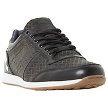 Buy Dune Texas Fabric Trainers, Black Online at johnlewis.com